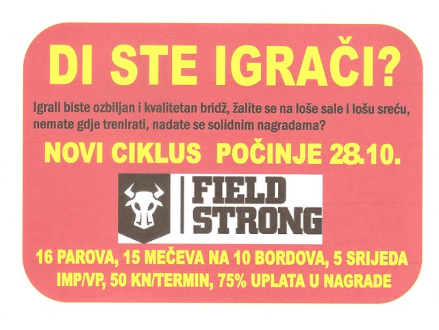 Strong field 28.10.2015.