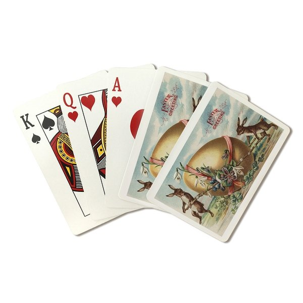 Easter-Greetings-Rabbits-by-a-Decorated-Egg-Poker-Playing-Cards-Deck